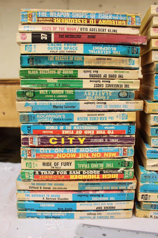 Large Lot of Ace Double Sci Fi Books