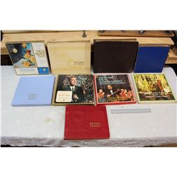 Box of Misc Vintage Record Albums (9) w/Records