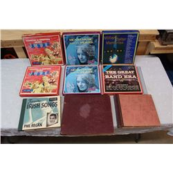Box of Misc Record Collections (9)