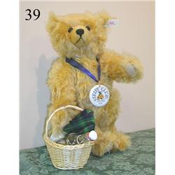 STEIFF Teddy Bear Mohair PICNIC with Basket + LIMITED EDITION EAN 420108 NWT