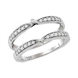 0.25 CTW Diamond Ring 14KT White Gold - REF-44K9W