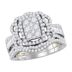 1.41 CTW Diamond Bridal Wedding Engagement Ring 14KT Two-tone Gold - REF-142N4F