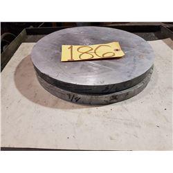 Aluminum Round Plate 11'' x 7/8''