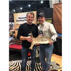 Moose shed signed by Legendary Bowhunter Tom Miranda