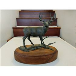 Bronze Mule Deer Sculpture