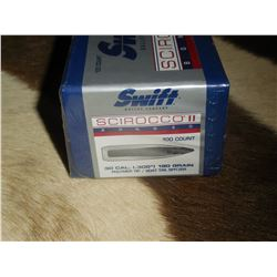 1 box Swift Sirocco30 CAL Bullets