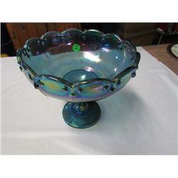 Modern carnival glass fruit bowl