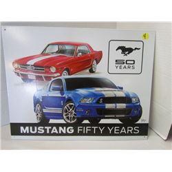 Mustang 50 yrs metal sign