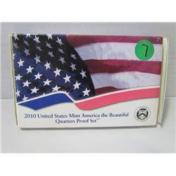 2010 United States Mint America the Beautfiul Quarter Set