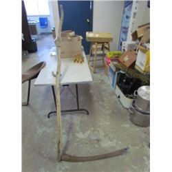 Wooden Scythe - Home made handle