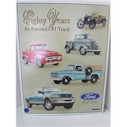 Ford Eighty Years Metal sign 16x12.5