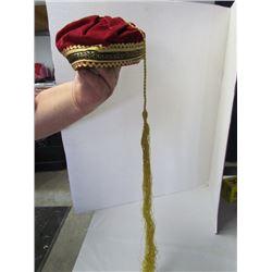 Turkish Velvet Fez Hat
