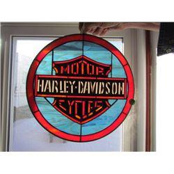 Harley Davidson stainglass sign - lead frame 13x13