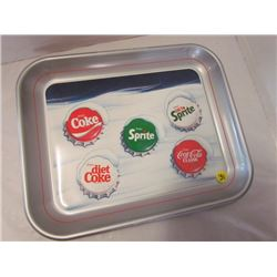 Coca-cola coke classics metal tray 13x10.75