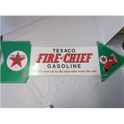 Texaco Fire Chief Gasoline metal sign 27x29 (REPRO)