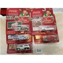 Johnny lightning Coca Cola 5 cars