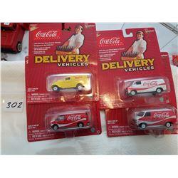 Johnny lightning Coca Cola 4 cars