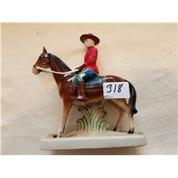 """RCMP horse and rider 6 1/2"""" x 7"""""""