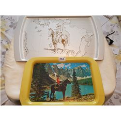 Lot of large trays (2)
