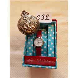 Minnie mouse watch and Pocket watch - AS IS