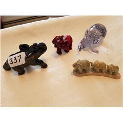 4 small elephants - Ornaments