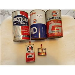 Oil tin lot