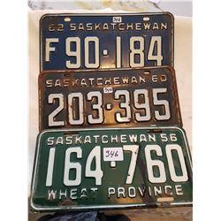 License plate 1956, 1960, 1962