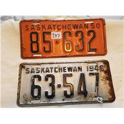 License plate 1948, 1950