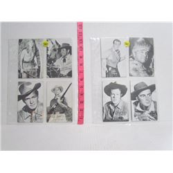 Set of 8 Western Movie Arcade Cards 1950s