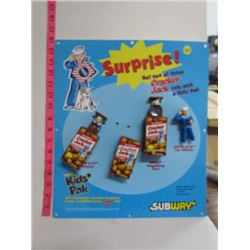 1999 Subway Display Board and Kids Toys- Cracker Jack
