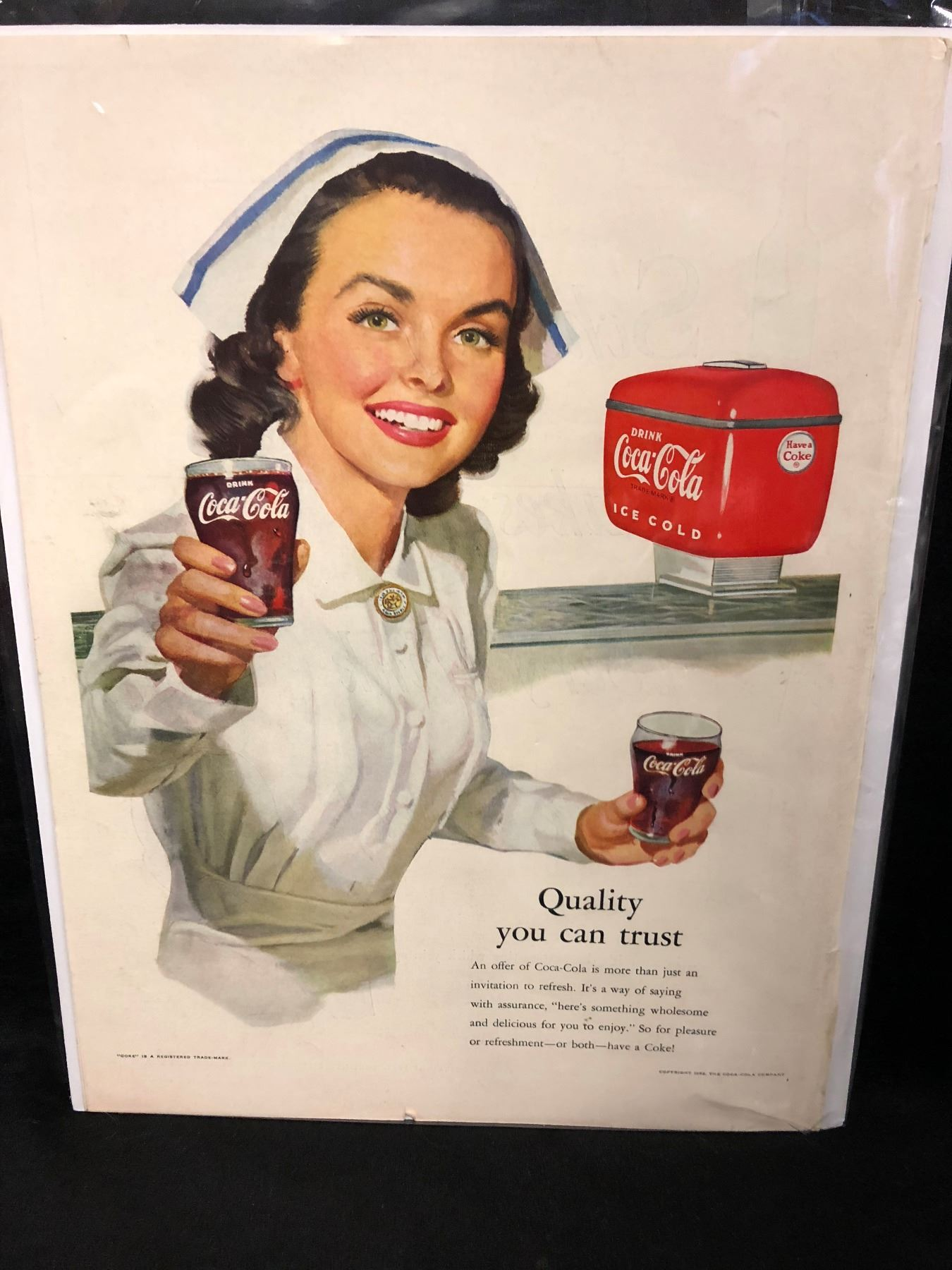 VINTAGE COCA COLA ADVERTISING POSTER
