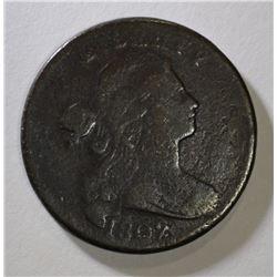 1802 DRAPED BUST LARGE CENT FINE