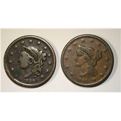 1838 & 1840 LARGE CENTS FINE+