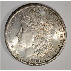 1881-S MORGAN DOLLAR, CH BU+