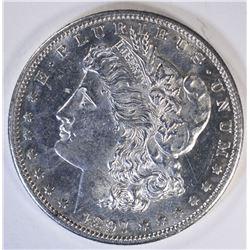 1897-S MORGAN SILVER DOLLAR, CH BU+