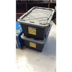 2 Professional Grade Storage Containers