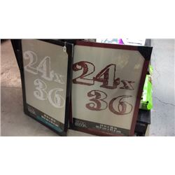 2- 24''x36'' Wooden Frames New
