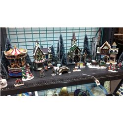30pc Christmas Village Set with Box