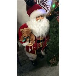 Fabric Santa with Lantern