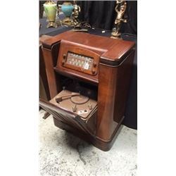 Philco Radio with Pull Our Philco Record Player