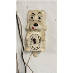 Vintage Wagging Dog Clock