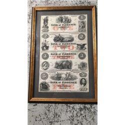 Bank of Florence Dollar Bills