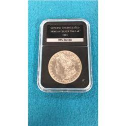 Genuine Uncirculated Morgan Silver Dollar 1883