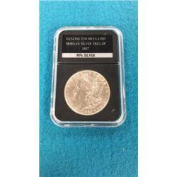 Genuine Uncirculated Morgan Silver Dollar 1887