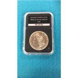Genuine Uncirculated Silver Dollar 1881