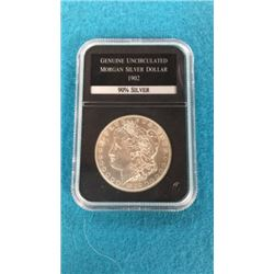 Genuine Uncirculated Morgan Silver Dollar 1902
