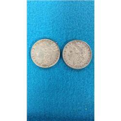 1881 & 1897 Morgan Dollars