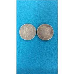 1886 & 1891 Morgan Dollars