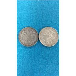 1883 & 1896 Morgan Dollars