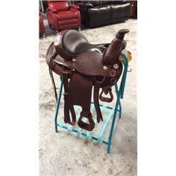 Montana Saddlery Round Skirt Roping Saddle